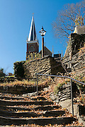 Stairs leading to church. Harpers Ferry. Maryland. United States of America.