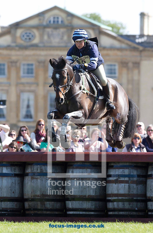 Picture by Sophie Elbourn/Focus Images Ltd +447595 944177.05/05/2013.Clare Lewis and Sidnificant during Badminton Horse Trials at Badminton, Gloucestershire.