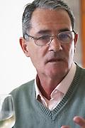 The owner manager Edgardo J Etcheverry Bodega Castillo Viejo Winery, Las Piedras, Canelones, Uruguay, South America