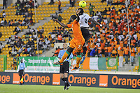 fotball<br /> Ivory Coast (CIV) vs Angola (ANG) 2:0 in Malabo. african cup of nations; Souleman BAMBA (CIV, L) - Manucho (ANG). <br /> Norway only
