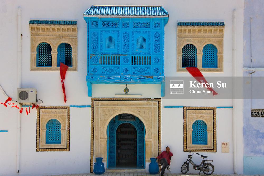 Traditional house in Kairouan, UNESCO World Heritage site, Tunisia