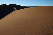 Sand dune in Valle de la Luna (Valley of the Moon), in Chile's Atacama Desert