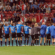 NLD/Amsterdam/20060823 - Ajax - FC Kopenhagen, blijdschap bij Kopenhagen na overwinning