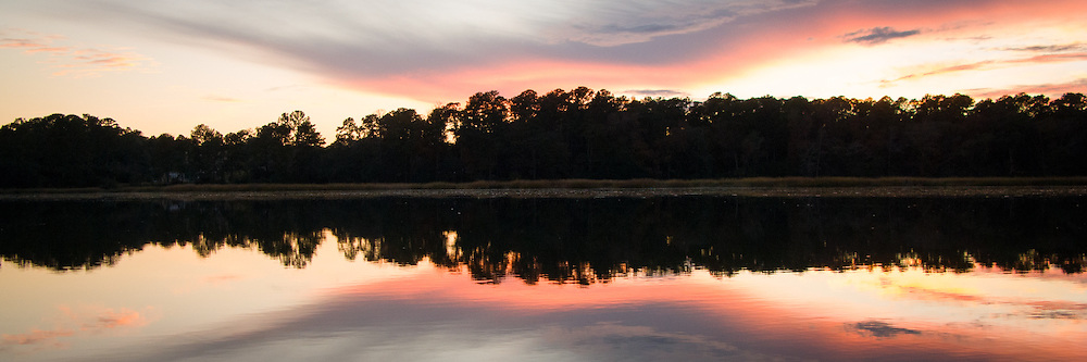 Sunset along the May River near Bluffton, SC.