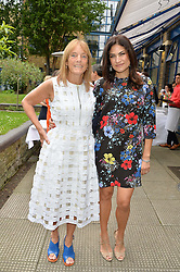 Left to right, RUTH ROGERS and DIALA KHLAT at an Evening at The River Cafe in aid of the NSPCC held at The River Cafe, Thames Wharf, Rainville Road, London on 19th June 2016