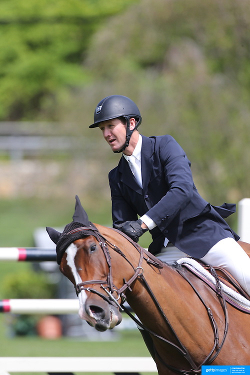 Mclain Ward riding Troya Retiro in action during the $35,000 Grand Prix of North Salem presented by Karina Brez Jewelry during the Old Salem Farm Spring Horse Show, North Salem, New York, USA. 15th May 2015. Photo Tim Clayton