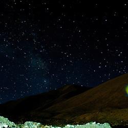 The summer night sky as seen from Pangong Tsu at 4450m.