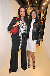 Left to right, TRISH SIMONON and BELLA FREUD at a dinner in honour of design label Rodarte held at the Fifth Floor Restaurant, Harvey Nichols, Knightsbridge, London on 3rd June 2009.