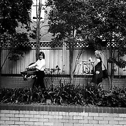 Jen (right) and Jane bring baby items to their home in Sydney, Australia, November 2008. Photo by Tim Clayton..