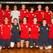 Vakifbank's team group during their Turkish Woman Volleyball friendly match Fenerbahce between  Vakifbank at Haldun Alagas Arena in Istanbul, Turkey on 05 October 2012. Photo by Aykut AKICI/TURKPIX