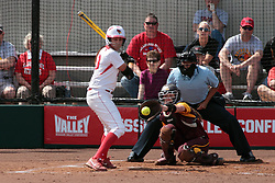 09 May 2014:  Laura Canopy during an NCAA Missouri Valley Conference (MVC) Championship series women's softball game between the Loyola Ramblers and the Illinois State Redbirds on Marian Kneer Field in Normal IL