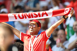 June 23, 2018 - Moscou, Rússia - MOSCOU, MO - 23.06.2018: BÉLGICA Y TÚNEZ - Fans during the match between Belgium and Tunisia valid for the 2018 World Cup held at the Otkrytie Arena (Spartak) in Moscow, Russia. (Credit Image: © Ricardo Moreira/Fotoarena via ZUMA Press)