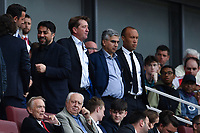 Football - 2019 Emirates Cup - Arsenal vs. Lyon<br /> <br /> Ex Arsenal player Mikaël Silvestre (black tie) in attendance, at the Emirates Stadium.<br /> <br /> COLORSPORT/ASHLEY WESTERN