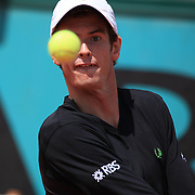 Andy Murray, Great Britain in action against Marin Cilic, Croatia at the French Open Tennis Tournament at Roland Garros, Paris, France on Sunday, May 31, 2009. Photo Tim Clayton.