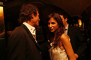 Robie Uniake and Caroline Sieber, Plum Sykes, book launch party, Annabel's, Berkeley Square, London, W1,10 May 2006.  Matthew Williamson, Catherine Vautrin, Laudomia Pucci host party to celebrate 'The Debutante Divorcee'. ONE TIME USE ONLY - DO NOT ARCHIVE  © Copyright Photograph by Dafydd Jones 66 Stockwell Park Rd. London SW9 0DA Tel 020 7733 0108 www.dafjones.com
