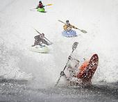 Kayaks on the Snow