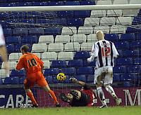 Photo: Rich Eaton.<br /> <br /> West Bromwich Albion v Luton Town. Coca Cola Championship. 12/01/2007. Warren Feeney #10 scores in the second half to make the score 2-1 to Luton