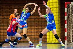 Alja Koren and Maja Vojnovic of Slovenia during friendly game between national teams of Slovenia and Serbia on 29th of September, Celje, Slovenija 2018