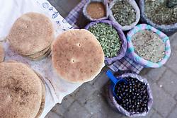 Breads and food, Fes al Bali medina, Fes, Morocco