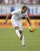 JACKSONVILLE, FL - JUNE 07:  Midfielder Graham Zusi #19 of the United States chips the ball during the international friendly match against Nigeria at EverBank Field on June 7, 2014 in Jacksonville, Florida.  (Photo by Mike Zarrilli/Getty Images)