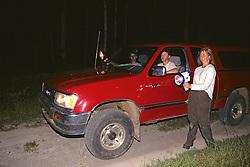 John, Jim & Judy Searching For Armadillo At Night