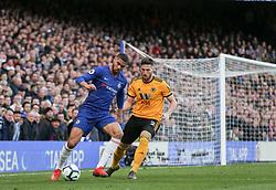 Ruben Loftus-Cheek of Chelsea holds off a challange from Matt Doherty of Wolverhampton Wanderers - Mandatory by-line: Arron Gent/JMP - 10/03/2019 - FOOTBALL - Stamford Bridge - London, England - Chelsea v Wolverhampton Wanderers - Premier League