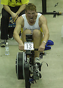 © Peter Spurrier/Sports Photo +44 (0) 7973 819 551.PPP Healthcare British Indoor Rowing Championships.18th Nov. 2001.National Indoor Arena...MatthewPinsent, applies the power, as her starts to catch his Olympic and World Champion partner, James Cracknell at the World Indoor Rowing Championship at the national Indoor Arena - Birmingham... [Mandatory Credit: Peter SPURRIER/Intersport Images]<br /> <br /> 20011118 British Indoor Rowing Championships, Birmingham.