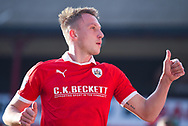 Thumbs up from Cauley Woodrow of Barnsley (9) during the EFL Sky Bet League 1 match between Barnsley and Wycombe Wanderers at Oakwell, Barnsley, England on 16 February 2019.