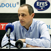 Real Madrid's coach Ettore MESSINA during their Turkish Airlines Euroleague Basketball Top 16 Group G Game 4 match Efes Pilsen between Real Madrid at Sinan Erdem Arena in Istanbul, Turkey, Thursday, February 17, 2011. Photo by TURKPIX