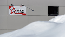 18.01.2017, Biathlonarena, Hochilzen, AUT, IBU Weltmeisterschaft Biathlon, Hochfilzen, Vorberichte, im Bild Hochfilzen 2017 Logo // Preview for the Upcoming IBU Biathlon World Championships 2017at the Biathlonarena, Hochfilzen, Austria on 2017/01/02. EXPA Pictures © 2017, PhotoCredit: EXPA/ JFK