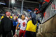 Ameer Abdullah gives greets a fan following Nebraska's win at Penn State on Nov. 23, 2013. © Aaron Babcock