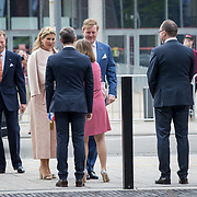 LUX/Luxembug/2 Maxima0180524 - Staatbezoek Luxemburg 2018 dag 2, aankomst Erfgroothertogin Maria Teresa  en Maxima, Willem-Alexander, Erfgroothertog Henri
