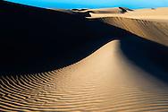 Sand dunes at the Lagoon of Khenifiss (Lac Naila), Atlantic coast, Morocco.