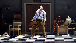 The Mad Hatter's Tea Party <br /> by Zoo Nation<br /> directed by Kate Prince<br /> presented by Zoo Nation, The Roundhouse & The Royal Opera House<br /> at The Roundhouse, London, Great Britain <br /> rehearsal <br /> 29th December 2016 <br /> <br /> Tommy Franzen as Ernest <br /> <br /> <br /> Photograph by Elliott Franks <br /> Image licensed to Elliott Franks Photography Services