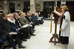 © Licensed to London News Pictures. 21/11/2016. Birmingham, UK. A service of prayer to mark the deaths of 21 people killed in the Birmingham Pub bombings on the 42nd anniversary. Pictured, the service taking place. credit: Dave Warren/LNP
