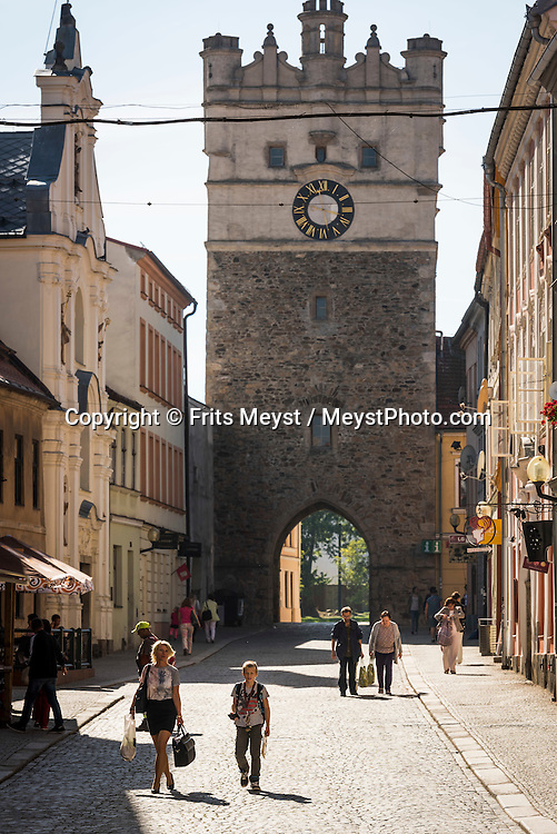 Jihlava, Moravia, Czech Republic, September 2015. Jihlava was a city which bore the title of the silver treasury of the Czech Kingdom. Worth seeing is the historic center with a checkered network of streets, labyrinth of underground tunnels. Jihlava's underground passages are a significant part of the town's ancient architecture. These catacombs, second in length in the CzechRepublic, after Znojmo, are situated directly below the old section of the town. Their total length is 25 km, covering an area of 50,000 sq. m. The multiple-level catacombs or corridors are cut into hard rock. Southern Moravia is most famous for its wine,  rolling hills and pretty landscapes. Photo by Frits Meyst / MeystPhoto.com