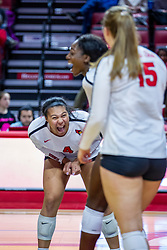 BLOOMINGTON, IL - November 22: Kaylee Martin during a college Women's volleyball match between the ISU Redbirds and the Sycamores of Indiana State on November 22 2019 at Illinois State University in Normal, IL. (Photo by Alan Look)