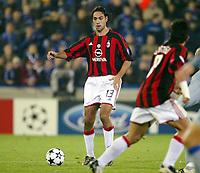 Fotball, 4. november 2003, Champions League,, Club Brugge ( Brügge )-Milan 0-1,   Alessandro Nesta, Milan