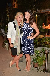 PICTURE SHOWS:-Left to right, GABBY WICKHAM and SHIRLEY LEIGH WOOD-OAKES.<br /> Tuesday 14th April 2015 saw a host of London influencers and VIP faces gather together to celebrate the launch of The Ivy Chelsea Garden. Live entertainment was provided by jazz-trio The Blind Tigers, whilst guests enjoyed Moët & Chandon Champagne, alongside a series of delicious canapés created by the restaurant's Executive Chef, Sean Burbidge.<br /> The evening showcased The Ivy Chelsea Garden to two hundred VIPs and Chelsea<br /> residents, inviting guests to preview the restaurant and gardens which marry<br /> approachable sophistication and familiar luxury with an underlying feeling of glamour and theatre. The Ivy Chelsea Garden's interiors have been designed by Martin Brudnizki Design Studio, and cleverly combine vintage with luxury, resulting in a space that is both alluring and down-to-earth.