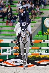 Jose Maria Larocca, (AEG), GDE Matrix - Team & Individual Competition Jumping Speed - Alltech FEI World Equestrian Games™ 2014 - Normandy, France.<br /> © Hippo Foto Team - Leanjo De Koster<br /> 02-09-14