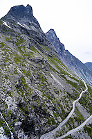 Norway, Rauma. Trollstigen is a serpentine mountain road in western Norway.
