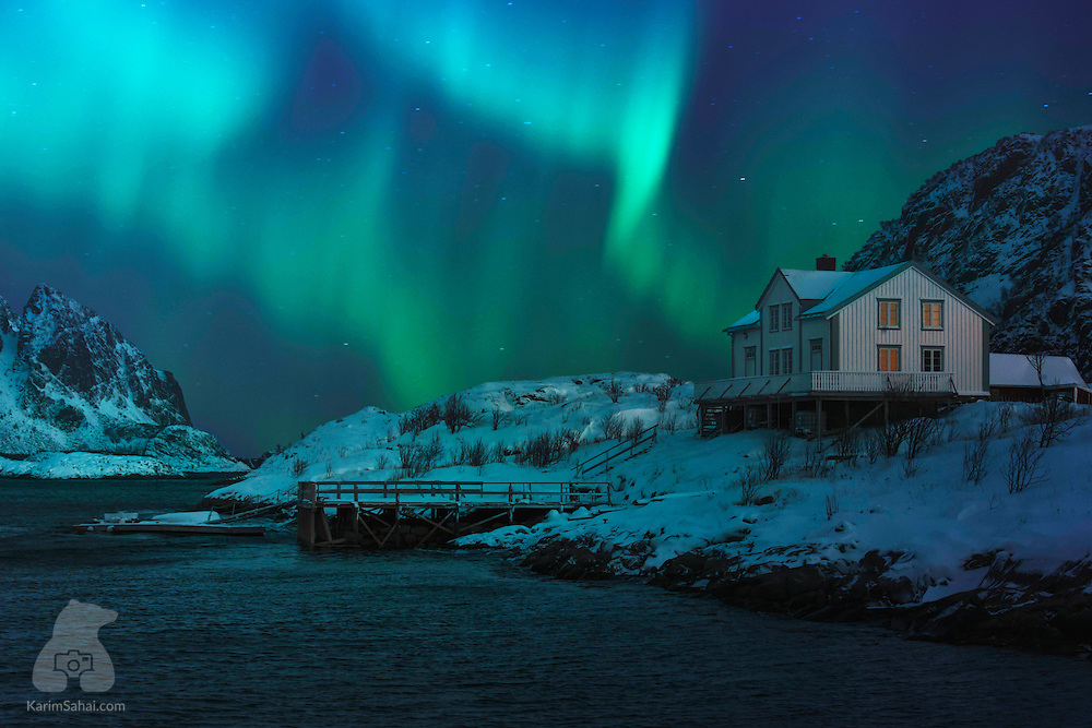 The giant solar storm from Tuesday paints a beautiful Aurora Borealis in the sky near Alta, in Norway's Finnmark region. Following two massive eruptions on the surface of the Sun last Sunday, electrically-charged particles travelled towards the Earth and collided with the oxygen in our atmosphere, creating the typical auroral green waves mesmerizing millions around the world. Sometimes, the Aurora takes on a red hue when solar particles collide with the oxygen and other gases in the very top layers of our planet's atmosphere.