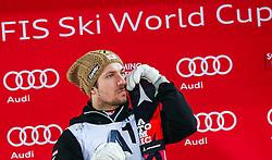 26.01.2016, Planai, Schladming, AUT, FIS Weltcup Ski Alpin, Schladming, Slalom, Herren, Siegerehrung, im Bild Marcel Hirscher (AUT, 2. Platz) // 2nd placed Marcel Hirscher of Austria celebrate on Podium during the winner award ceremony of men's Slalom Race of Schladming FIS Ski Alpine World Cup at the Planai in Schladming, Austria on 2016/01/26. EXPA Pictures © 2016, PhotoCredit: EXPA/ Johann Groder