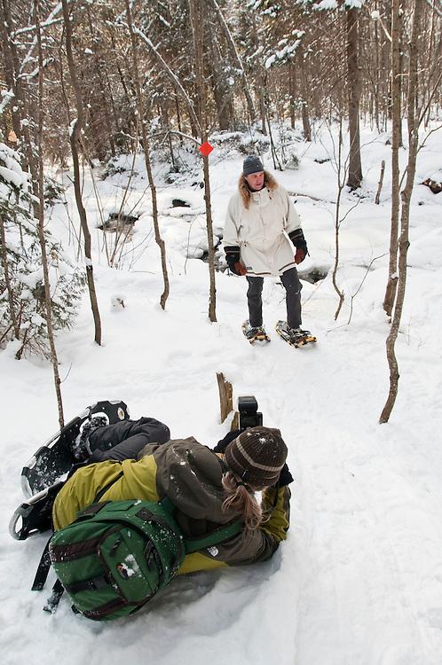Writer and photographer James Smedley of Wawa Ontario Canada photographers outdoor adventurer Gary McGuffin.