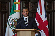 The president of Mexico has visited Aberdeen to sign a memoranda of understanding on collaboration in the energy sector.<br /> <br /> Enrique Pena Nieto met senior senior representatives of the oil and gas industry during a ceremony at the city's Town House.<br /> <br /> Picture of the president speaking in Aberdeen<br /> Pic Derek Ironside / Newsline Media