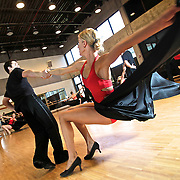 "members of the Utah Valley University ballroom dance team practice for a live appearance on the popular ABC show ""Dancing with the Stars"" on Tuesday. The practice was held at UVU in Orem, Utah, Saturday, May 15, 2010 . August Miller, Deseret News ."