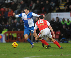 Bristol Rovers' Oliver Norburn turns on the spot - Photo mandatory by-line: Dougie Allward/JMP - Tel: Mobile: 07966 386802 14/12/2013 - SPORT - Football - Morecombe - Globe Arena - Morecombe v Bristol Rovers - Sky Bet League Two