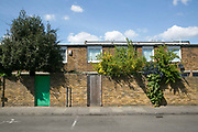 Cressingham Gardens estate on 19th April 2017 in South London, United Kingdom. Cressingham Gardens is a council garden estate in Lambeth. Located on the southern edge of Brockwell Park, it comprises of 306 dwellings. It was designed at the end of the 1960s by the Lambeth Borough Council architect Edward Hollamby, and built at the start of the 1970s. In 2012 Lambeth Council proposed regeneration of the whole estate, a decision highly opposed by many residents and a campaign to stop the redevelopment has been in place since.