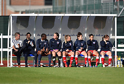 Bristol Academy bench ahead of WSL fixture against Sunderland AFC Ladies - Mandatory by-line: Paul Knight/JMP - 25/07/2015 - SPORT - FOOTBALL - Bristol, England - Stoke Gifford Stadium - Bristol Academy Women v Sunderland AFC Ladies - FA Women's Super League
