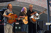 From left, Stephen Stills, David Crosby and Graham Nash played to a sold out crowd Thursday evening at the Charlottesville Pavilion. The concert benefited the Blue Ridge area Food Bank, Inc. The band has partnered with WHY (World Hunger Year) to put food on the shelves of food banks that are serving America's hungry. Photo/Andrew Shurtleff